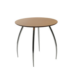 Buy Eurostyle 30x30 Round Bistro Table in Natural & Chrome on sale online