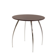 Buy Eurostyle 30x30 Round Bistro Table in Wenge & Chrome on sale online