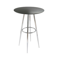 Buy Eurostyle Bravo Round 30x30 Bar Table in Black & Chrome on sale online