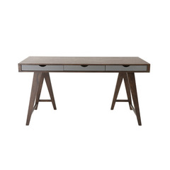 Buy Eurostyle Daniel 59x28 Desk in Walnut & Gray on sale online