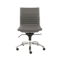 Buy Eurostyle Dirk Low Back Armless Office Chair in Gray & Chrome on sale online