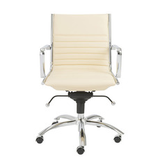Buy Eurostyle Dirk Low Back Office Chair in Butter & Chrome on sale online