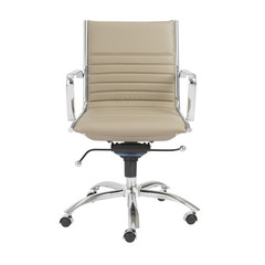 Buy Eurostyle Dirk Low Back Office Chair in Taupe & Chrome on sale online