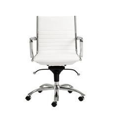 Buy Eurostyle Dirk Low Back Office Chair in White & Chrome on sale online