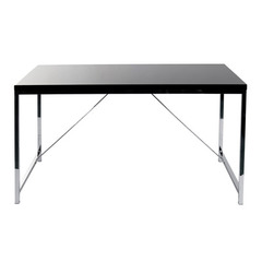 Buy Eurostyle Gilbert 53x30 Desk in Black Lacquer & Chrome on sale online