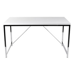 Buy Eurostyle Gilbert 53x30 Desk in White Lacquer & Chrome on sale online
