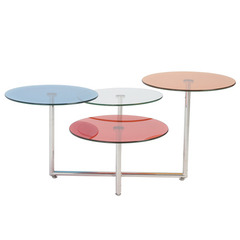 Buy Eurostyle Grayson Glass 36x44 Coffee Table in Blue/Clear/Orange/Red on sale online