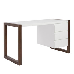 Buy Eurostyle Manon 24x51 Desk in White & Dark Walnut on sale online