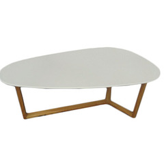 Buy Eurostyle Morty Triangle 47x28 Coffee Table in White & Dark Walnut on sale online