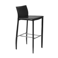 Buy Eurostyle Shen 30 Inch Bar Stool in Black Leather - Set of 2 on sale online