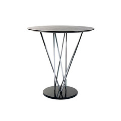 Buy Eurostyle Stacy Round 41x41 Bar Table in Black/Ebony & Chrome on sale online