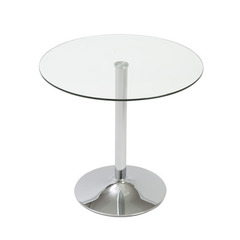 Buy Eurostyle Talia Round 32x32 Bistro Table in Clear & Chrome on sale online
