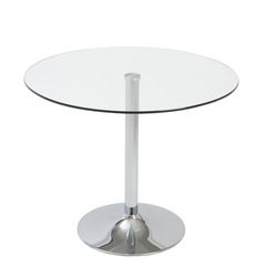 Buy Eurostyle Talia Round 36x36 Dining Table in Clear & Chrome on sale online