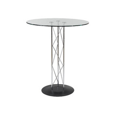 Buy Eurostyle Trave Glass Round 32x32 Bar Table w/ Black & Chrome Base on sale online