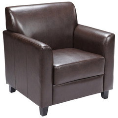 Buy HERCULES Diplomat Series Brown Leather Chair on sale online
