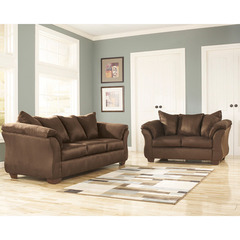 Buy Flash Furniture Signature Design by Ashley Darcy 2 Piece Living Room Set in Cafe Fabric on sale online