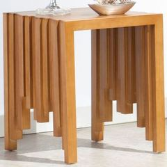 Buy Furnitech 20x18 Rectangular Rustic End Table in a Warm Honey Finish on sale online