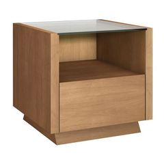 Buy Furnitech 24x24 Square End Table w/ Drawer in Light Cherry Finish on sale online