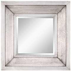 Buy Cooper Classics Garner 28 Inch Square Mirror in Silver on sale online