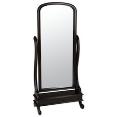 Buy Cooper Classics Garrison 70x32 Cheval Mirror in Dark Cherry on sale online