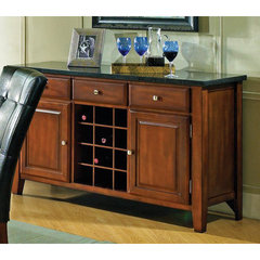 Buy Steve Silver Granite Bello Server w/ Wine Rack on sale online