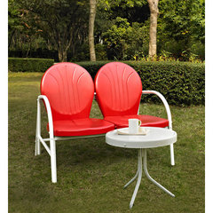 Buy Crosley Furniture Griffith 2 Piece Outdoor Seating Set - Loveseat & Table in Red on sale online