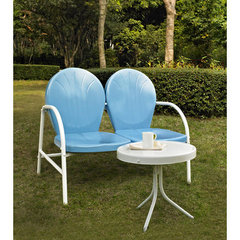 Buy Crosley Furniture Griffith 2 Piece Outdoor Seating Set - Loveseat & Table in Sky Blue on sale online