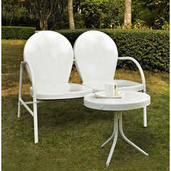 Buy Crosley Furniture Griffith 2 Piece Outdoor Seating Set - Loveseat & Table in White on sale online