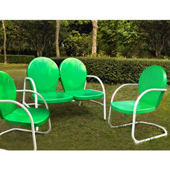 Buy Crosley Furniture Griffith 3 Piece Outdoor Seating Set - Loveseat & 2 Chairs in Grasshopper Green on sale online