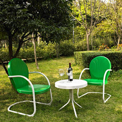 Buy Crosley Furniture Griffith 3 Piece Outdoor Seating Set - Two Chairs in Grasshopper Green w/ Side Table on sale online