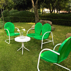 Buy Crosley Furniture Griffith 4 Piece Outdoor Seating Set - Loveseat & 2 Chairs in Grasshopper Greeen w/ Side Table on sale online
