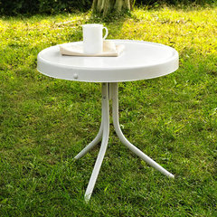 Buy Crosley Furniture Griffith Metal 20 Inch Side Table in White on sale online