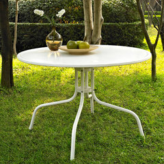 Buy Crosley Furniture Griffith Metal 40 Inch Dining Table in White on sale online