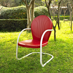 Buy Crosley Furniture Griffith Metal Chair in Red on sale online