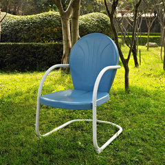 Buy Crosley Furniture Griffith Metal Chair in Sky Blue on sale online