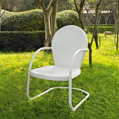 Buy Crosley Furniture Griffith Metal Chair in White on sale online