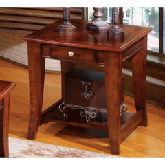 Buy Steve Silver Hamilton 26x22 End Table in Cherry on sale online