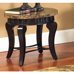 Buy Steve Silver Hamlyn 23 Inch Round Marble Top End Table on sale online
