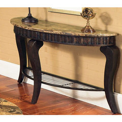 Buy Steve Silver Hamlyn 47x17 Marble Top Sofa Table on sale online