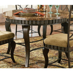 Buy Steve Silver Hamlyn Marble Top 44 Inch Round Dining Table on sale online