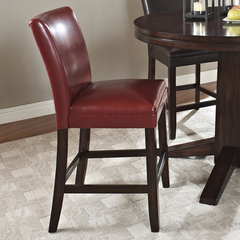Buy Hartford Counter Height Chair in Red on sale online