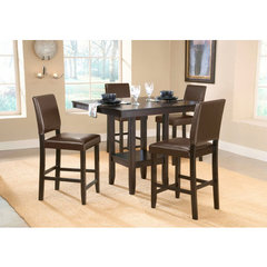 Buy Hillsdale Arcadia 5 Piece 42x42 Counter Height Set w/ Parson Stools on sale online