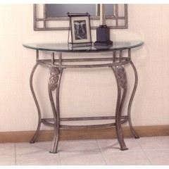 Buy Hillsdale Bordeaux 36x14 Console Table w/ Glass Top in Bronze on sale online