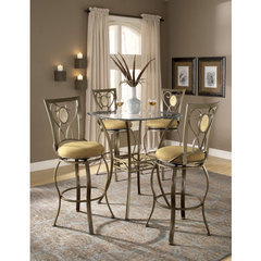 Buy Hillsdale Brookside 3 Piece Pub Table Set w/ Brookside Oval Barstool on sale online