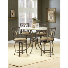 Buy Hillsdale Brookside 5 Piece Counter Height Set w/ Diamond Stools on sale online