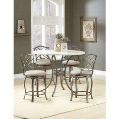 Buy Hillsdale Brookside 5 Piece Counter Height Set w/ Hanover Stools on sale online