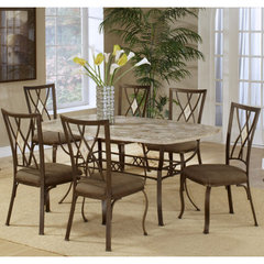 Buy Hillsdale Brookside 7 Piece Rectangle 66x42 Dining Room Set w/ Diamond Back Chairs on sale online