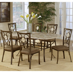 Buy Hillsdale Brookside 7 Piece Rectangle Dining Room Set w/ Oval Back Chairs on sale online
