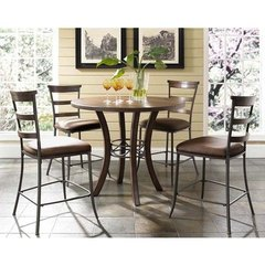 Buy Hillsdale Cameron 5 Piece Counter Height Dining Set w/ Ladder Back Stools on sale online