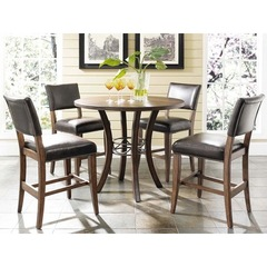 Buy Hillsdale Cameron 5 Piece 42x42 Counter Height Dining Set w/ Parson Stools on sale online